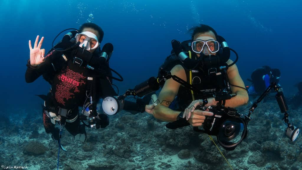 Mares Horizon recreational diving in the Maldives