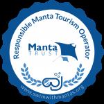 Swim with Mantas logo